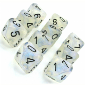 Aquerple & Black Borealis D10 Ten Sided Dice Set